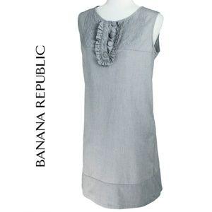 Banana Republic Preppy Pinstripe Cotton Dress